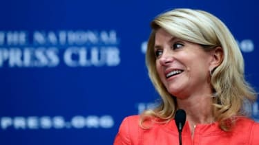 Texas state Sen. Wendy Davis (D) speaks at the National Press Club on August 5.