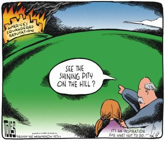 Editorial Cartoon U.S. America reputation