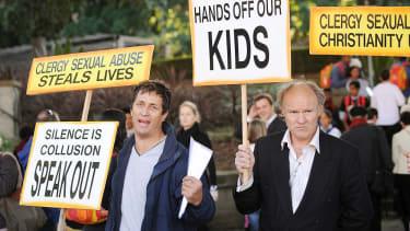 Protesters in Australia in 2008