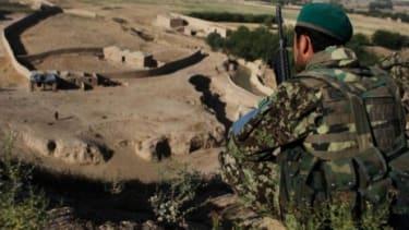 An Afghan soldier surveys a valley in Northwest Afghanistan.