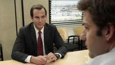 """Despite guest appearances by Will Arnett (above), Warren Buffet, and a string of other big names, """"The Office"""" season finale left critics feeling used."""