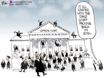 Political Cartoon U.S. SCOTUS court packing