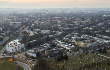 Aerial shot of D.C.