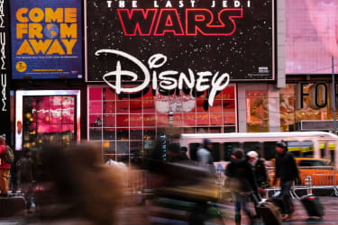 The Disney Store in Times Square.