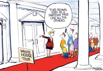 Political Cartoon U.S. Trump White House