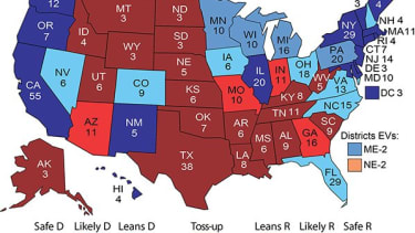 This electoral map isn't good for Donald Trump