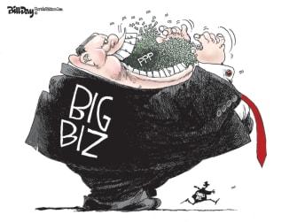 Editorial Cartoon U.S. PPP big small business