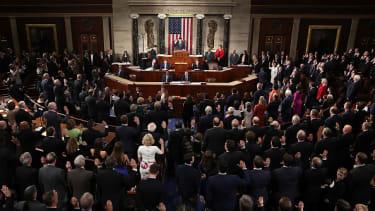 Paul Ryan swears in the new Congress.