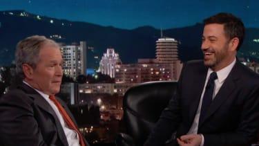 George W. Bush and Jimmy Kimmel.