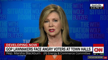 Rep. Marsha Blackburn talks outsiders at her town hall