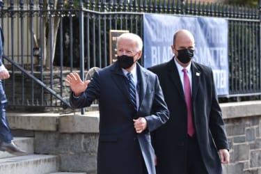 Joe Biden at church
