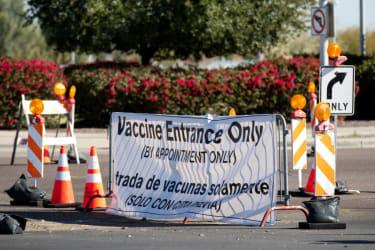 Coronavirus vaccine site.