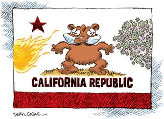 Editorial Cartoon U.S. California covid wildfires
