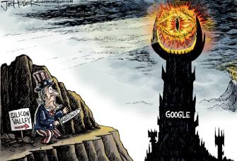 Editorial Cartoon U.S. Google DOJ antitrust lawsuit Sauron