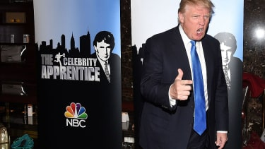 Donald Trump on the red carpet for Celebrity Apprentice in 2015