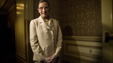 Justice Ginsburg would pinch herself to stop laughing at Scalia in court.
