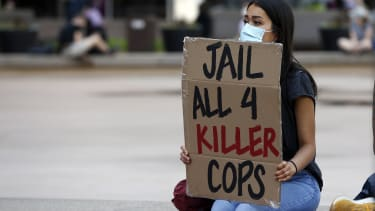 A protester in Minneapolis.