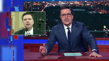 Stephen Colbert has some choice words for FBI Director James Comey