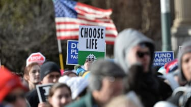 Pro-life march.