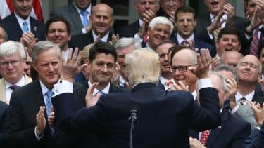 Republicans celebrate first step in ObamaCare repeal