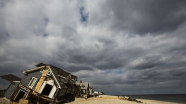 Damage from superstorm Sandy.