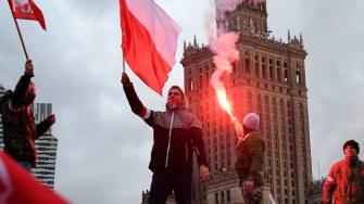 Nationalist demonstrators in Warsaw, Poland