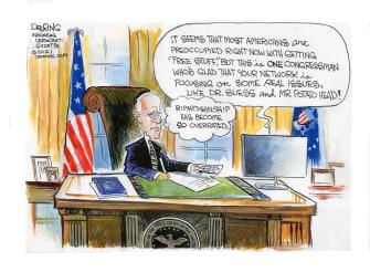 Political Cartoon U.S. biden gop culture wars dr seuss potato head