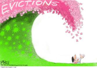 Editorial Cartoon U.S. coronavirus evictions