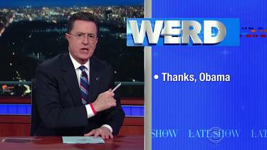 Colbert Report Stephen Colbert returned to send Obama off