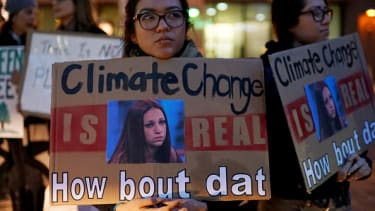A protester against climate change.