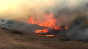 A fire in Logan County, Oklahoma.