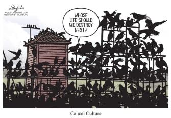 Editorial Cartoon U.S. cancel culture