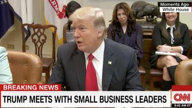 Donald Trump Chuck Schumer fake tears.