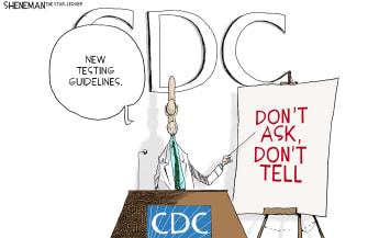 Editorial Cartoon U.S. CDC Covid guidelines