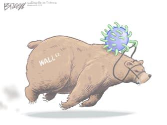 Editorial Cartoon U.S. COVID bear market