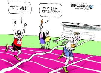 Political Cartoon U.S. gop election lies