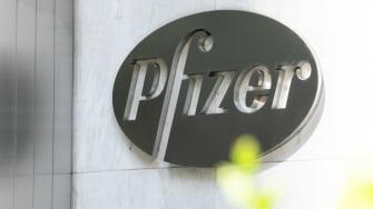 The Pfizer logo.