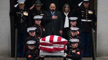 John Glenn's casket.