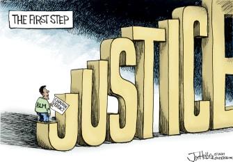 Editorial Cartoon U.S. blm chauvin george floyd verdict