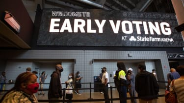 Early voting at State Farm Arena in Atlanta