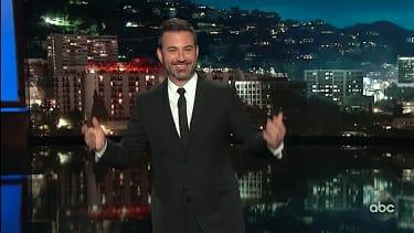 Jimmy Kimmel gawks and Kanye West and President Trump