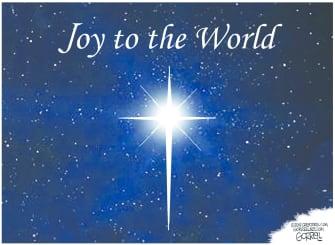 Editorial Cartoon U.S. Joy To The World