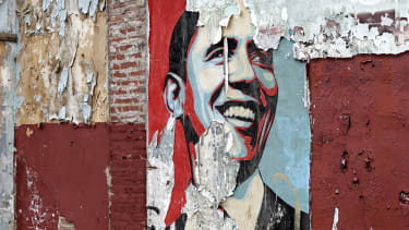A Barack Obama poster.