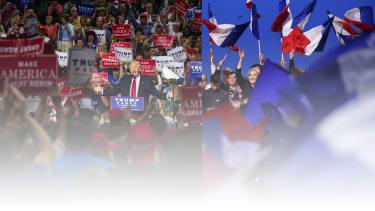 Donald Trump and France'sMarine Le Pen.