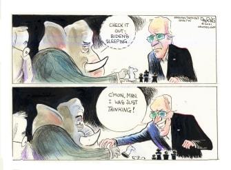 Political Cartoon U.S. gop biden chess move