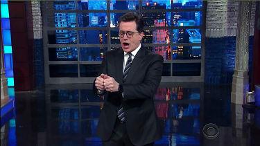 Stephen Colbert deconstructs Trump's twitter rage