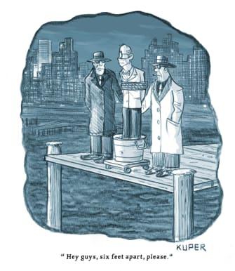 Editorial Cartoon U.S. social distancing mafia