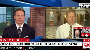 CNN's Chris Cuomo and Republican Rep. Jim Jordan (Ohio).