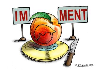 Political Cartoon U.S. Trump impeachment Ukraine