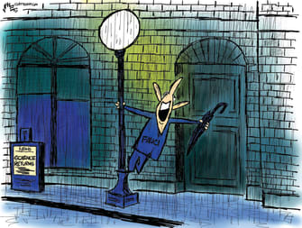 Editorial Cartoon U.S. fauci biden covid